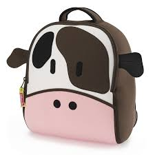 cow backpack and lunch bag set by dabbawalla bags
