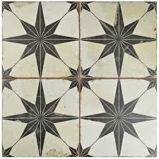EliteTile SAMPLE Royalty Galactic Ceramic Field Tile in Black
