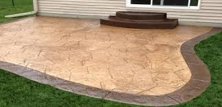 stamped concrete patio. Stamped Concrete Patio Cost To Simple Price For