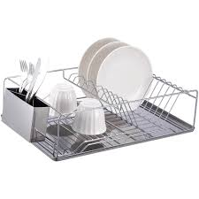 Kitchen Dish Rack Dish Rack Chrome Stainless Steel Walmartcom