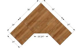 Hey Ana Diy corner desk plans One and 1 4 Sheet Plywood Corner Desk that  Sits See more about Corner Computer Desks These can More Ms