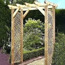 squared lattice wooden garden arch arches for