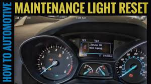 2013 Ford Escape Check Engine Light Reset How To Reset The Maintenance Light On A 2015 Ford Escape