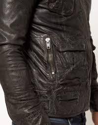lyst superdry tarpit leather jacket in black for men