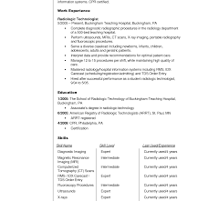 Unique Cover Letter For Radiologic Technologist On Resume Sample ...