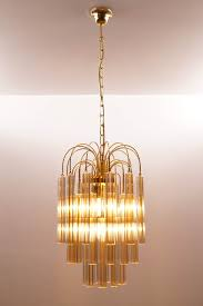 vintage venini chandelier with two tone murano glass