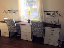 two desk office. Home Office Desk Gorgeous Decor Crafty Inspiration Manificent Design Two