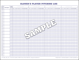 Softball Pitching Chart Template Baseball Scorebook And Softball Scorebooks From Glovers