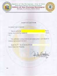 Barangay Certificate Of Employment Image Gallery Hcpr