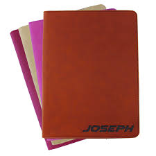custom engraved leather zipper portfolio personalized business padfolio holder