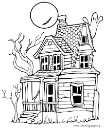Small Picture Halloween Halloween haunted house coloring page