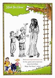 Small Picture Magic Tree House Colouring Activity Scholastic Kids Club