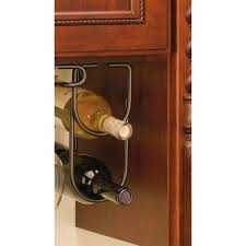 wine bottle storage furniture. Rev-A-Shelf 0.625 In. H X 4.25 W 9 D Oil Rubbed Bronze Under Cabinet Double Wine Bottle Rack-3250ORB - The Home Depot Storage Furniture B