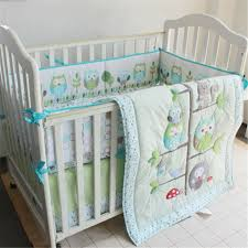 Light Green Crib Skirt Moonpalace Green Owl Tree Baby Crib Nursery Bedding Set Baby