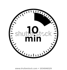 Timer 10min Set Timers Ten Minutes Transparent Sign Stock Vector Royalty Free