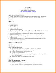 9 Resume For Hostess Letter Setup