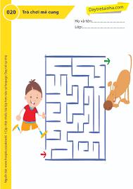 Chủ đề 20: Trò chơi đi tìm mê cung bí ẩn - Dạy trẻ tại nhà Sweet Book