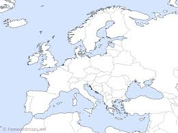 Empty Map Of Europe Printable Unlabeled Uncolored Blank Estarte Me