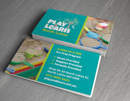 Play And Learn Child Care Centre Business Card Design