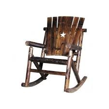 rustic wooden rocking chairs.  Wooden Rustic Wooden Rocker Rocking Chair Porch Patio Texas Star Outdoor Furniture  Log With Chairs I