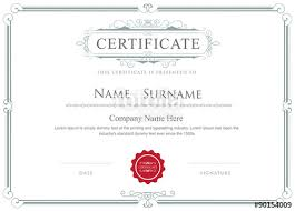 Certificate Borders Free Download Inspiration Certificate Border Vector Elegant Flourishes Template Stock Image