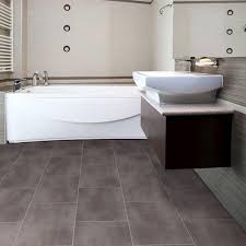 Big Grey Tiles Flooring For Small Bathroom With Awesome White