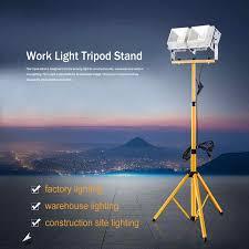 Ocean Lighting Returns Protable Double Head Iron Telescopic Tripod Stand For Led Flood Light Worksite Lamp Lighting Support For Telescope Work