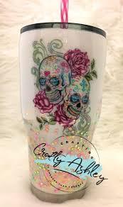 Diy Glass Cup Designs Sugar Skull Tumbler Tumbler Designs Sugar Skull Decor