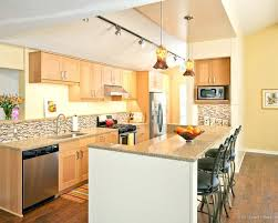 Idea Light Maple Cabinets With Granite And Maple Kitchen Cabinets