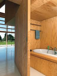 dwell bathroom cabinet:  ways to use wood in the bathroom dwell on other side of bookshelves a sliding