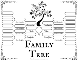 Family Tree Charts To Download 4 Free Family Tree Templates For Genealogy Craft Or School