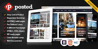 Posted News Magazine Bootstrap Html5 Template