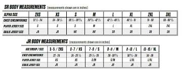 Hockey Jersey Size Conversion Chart 48 Logical Ccm Hockey Jersey Sizing Chart