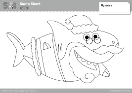 Here is a nice variety of free printable coloring pages that are difficult but fun coloring pages. Santa Shark Coloring Pages Super Simple