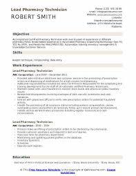 Pharmacy Tech Resume Template Lead Pharmacy Technician Resume Samples Qwikresume