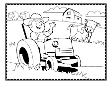Tractor Coloring Pages Farmer Cow Coloringstar