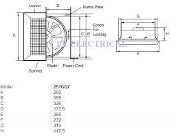 kdk 25tgq7 25cm 10 ceiling ventilating exhaust fan