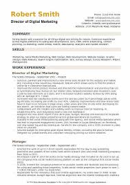 Example Of Marketing Resumes Director Of Digital Marketing Resume Samples Qwikresume