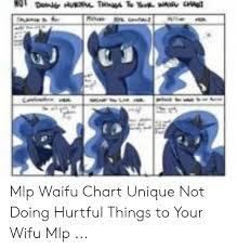 Mlp Waifu Chart Unique Not Doing Hurtful Things To Your Wifu