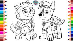 Coloring Pages Paw Patrol Coloring Chase Picture Ideas