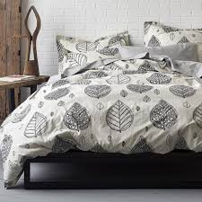 artist leaf organic percale duvet cover our artist leaf organic cotton bedding presents a modern take on classic indian woodblock prints