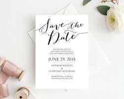 Save The Date Cards Template Save The Date Card Template Wedding Templates And Printables