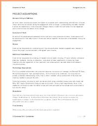 It Sow Template Scope Of Work Template Awesome Project Sow Sample Management