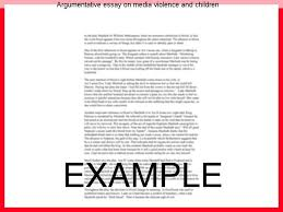 argumentative essay on media violence and children research paper  argumentative essay on media violence and children violence in the media causes youth violence essaysviolence