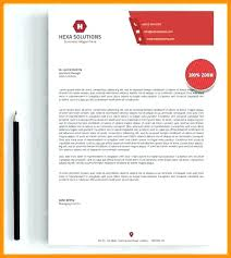 Letterhead Format Doc Resume Email Examples Company Sample Templates