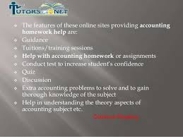 online tool for helping students achieve accounting assignments continue reading 4          the features of these online sites providing accounting