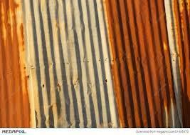 rusted corrugated metal siding