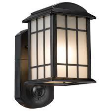 smart outdoor lighting. Craftsman Smart Security Textured Black Metal And Glass Outdoor Wall Lantern Lighting