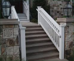 exterior wood railing. jamestown railing with safety rail - a custom grip is the code compliant addition to exterior wood k