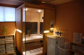 small sauna designs with towel storage ideas and recessed lighting